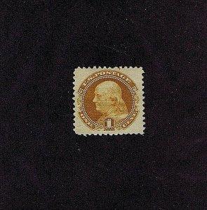 SC# 112 UNUSED ORIGINAL GUM, PREV HINGED, 1 CENT FRANKLIN 1869, 2019 PSAG CERT
