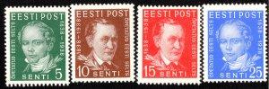 Estonia Scott 139-142 Mint never hinged.