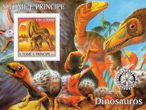 Sao Tome and Principe 2004 DINOSAURS-ROTARY Souvenir Sheet (1) MNH