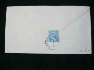 LUNDY STAMP USED ON 1987 COVER