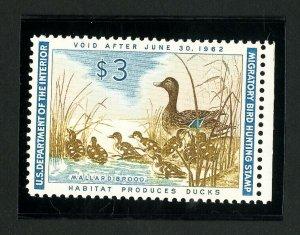 US Stamps # RW28 Superb OG NH Gem