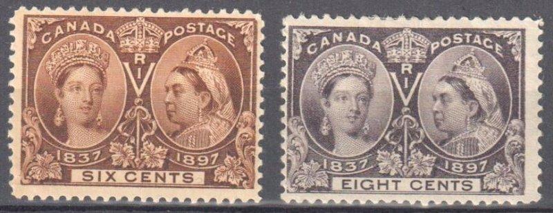 Canada #55-56 Mint F-VF H -- Jubilee -- C$355.00
