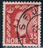 Norway 346, 35o King Haakon VII, brown red, used, VF