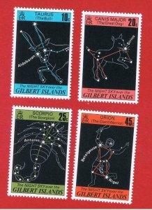Gilbert Islands #308-311  MNH OG  Stars  Free S/H