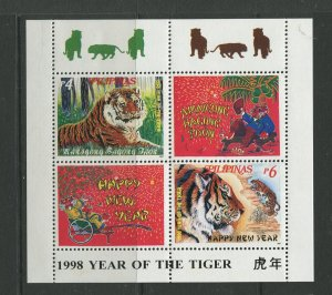 STAMP STATION PERTH Philippines #2505a Tigers Souvenir Sheet MNH CV$4.00