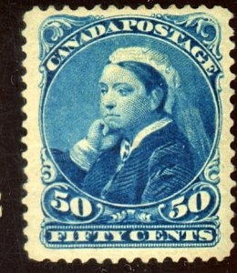 CANADA #47 MINT FVF OG LH PINHEAD THIN Cat $475