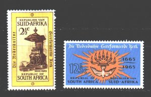 South Africa. 1965. 346-47. 300 years of church reform in Holland. MNH.
