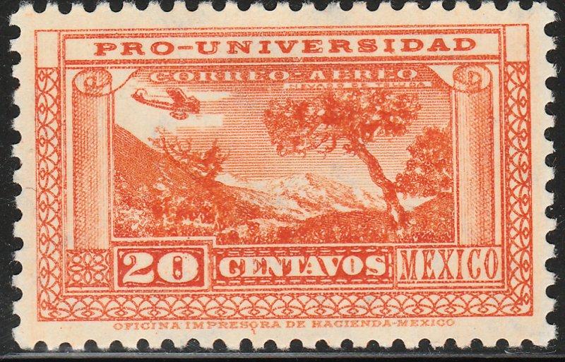 MEXICO C54, 20¢ UNIVERSITY ISSUE. UNUSED, HINGED, OG. VF.
