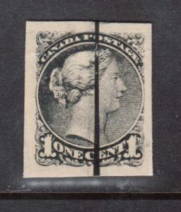 Canada #35P XF Defaced Proof In Black On Card