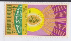 1974 SINGLE STAM 4p CHARITY SAUDI ARABIA SC 676   MINT NH