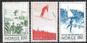 NORWAY 1979 SKI COMPETITIONS Set Sc 741-743 MNH