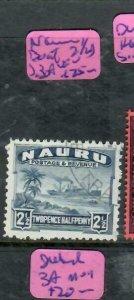 NAURU (P1812B)   BOAT 2 1/2D  SG 3A    VFU