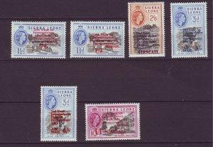 J24466 JLstamps 1963 sierra leone set mnh #c1-6 ovpt,s