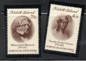 Norfolk Island Sc  495-496 1990 Wentworth & Christian stamp set mint NH
