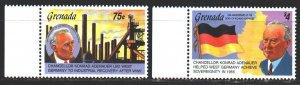 Grenada. 1992. 2509-10. Konrad Adenauer, Chancellor of Germany. MNH.