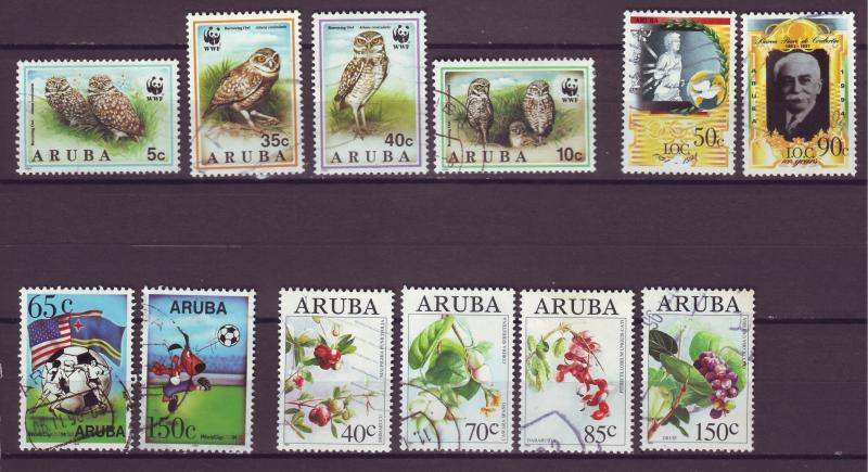 J15031 JLstamps 1994 aruba year sets used #98-112 designs