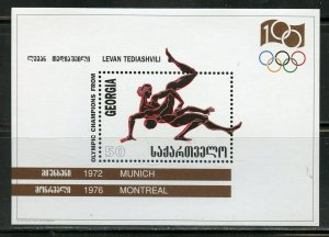 GEORGIA  SCOTT#156/57 CENTENARY OF THE  OLYMPIC GAMES SOUVENIR SHEETS MINT NH