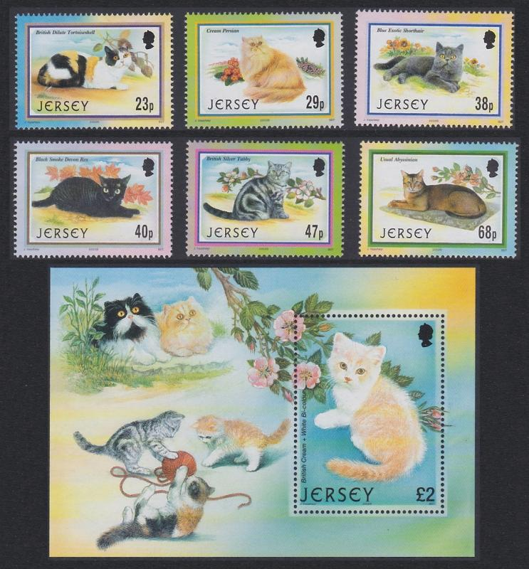 Jersey Cats 6v+MS SG#1060-MS1066