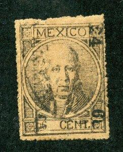 MEXICO HIDALGO SC# 55 FOLL# 65 TYPE I PERF 25 68 ACAPULCO USED AS SHOWN