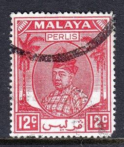Malaya (Perlis) - Scott #24 - Used/CTO - SCV $6.25