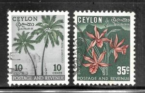 Ceylon 1951-1952 SC# 313 & 314a