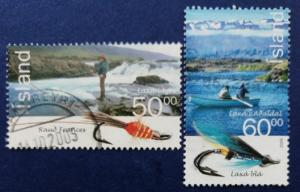 Iceland Fishermen Fish Flies Scott # 1052-3 Used (I895)