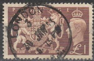 Great Britain #289 F-VF Used CV $18.00 (A16664)