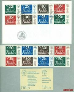 Sweden. FDC 1974 + Booklet  Mnh + Ticket  Stockholmia74 World Postal Congress.