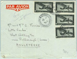 91274 -  INDOCHINE - Postal History - AIRMAIL  COVER  to  ENGLAND  1948