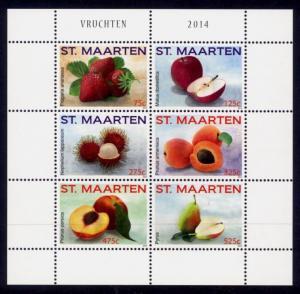 St. Martin Sc# 57 MNH Fruits 2014 (M/S of 6)