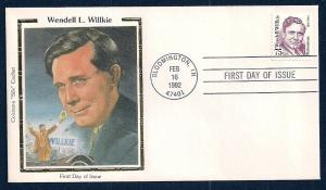 UNITED STATES FDC 75¢ Wendell Willkie 1992 Colorano