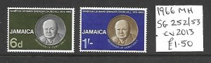 Jamaica MH 252-3 Winston Churchill 1966