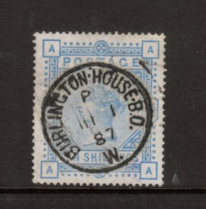 Great Britain #109 Very Fine Used With Ideal 1887 Burlington House CDS Cancel
