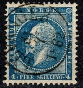Norway #4 F-VF Used CV $13.00 (X9618)