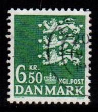 Denmark -  #805 State Seal - Used