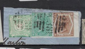 Great Britain Used Callao Mixed Piece SG Z53 pl5 + Z44 pl11 (1dqi)