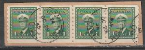 #263 Canada used Coil strip of 4 Perf 8