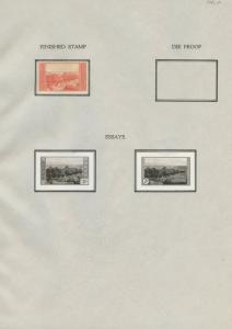 #741E 2c NATIONAL PARKS 1934 2 DIFF OFFICIAL B.E.P. ESSAYS EX-ALVIN HALL WLM7076