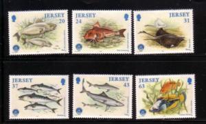 Jersey Sc 858-63 1998 Marine Life stamp set mint NH