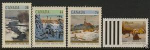 Canada 1256-9 MNH Christmas, Art