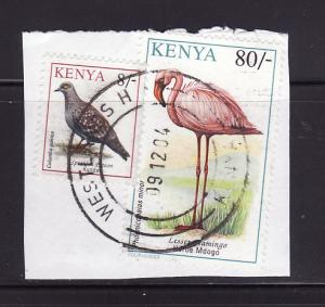 Kenya 603, 608 On Piece U Birds (C)