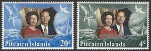 Pitcairn Islands #127-128 MNH Full Set of 2 QEII Silver Wedding