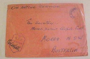 AUSTRALIA PALESTINE  1941 APO 138