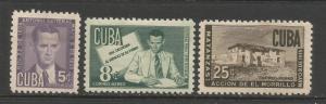 CUBA C47-49 MNH/MOG P809