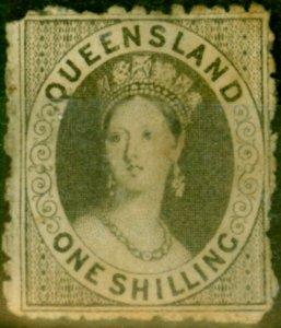 Queensland 1863 1s Grey SG29 Good Unused