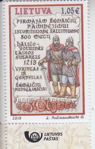 2019 Lithuania 1st Mention of Samogitians in Historical Sources (Scott NA) MNH