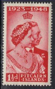Pitcairn Islands 1949 KGV1 1 1/2d Royal Silver Wedding Umm SG 11 ( H533 )