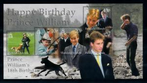 [72079] Falkland Islands 2000 Royalty Birthday Prince William Dogs Sheet MNH