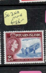 PITCAIRN ISLANDS  (PP2106B)  QEII  2/6  BOAT  SG 28A     MNH