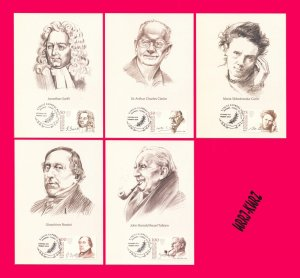 KYRGYZSTAN 2017 Famous People Writer Composer Scientist Physicist Maxicards Card